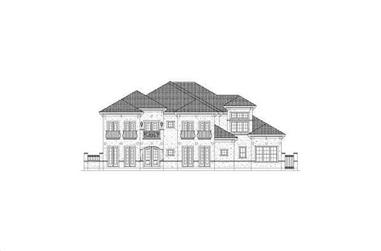 4-Bedroom, 6222 Sq Ft Luxury House Plan - 156-1108 - Front Exterior