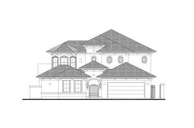 5-Bedroom, 3880 Sq Ft Mediterranean House Plan - 156-1109 - Front Exterior