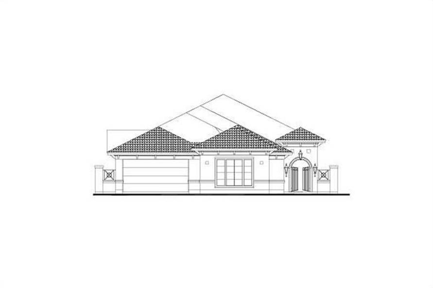 3-Bedroom, 2699 Sq Ft Mediterranean Home Plan - 156-1111 - Main Exterior