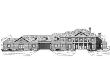 6-Bedroom, 6563 Sq Ft Colonial House Plan - 156-1117 - Front Exterior