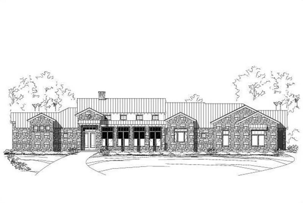 Front elevation of Country home (ThePlanCollection: House Plan #156-1119)