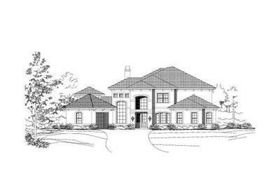 4-Bedroom, 4463 Sq Ft Mediterranean Home Plan - 156-1120 - Main Exterior