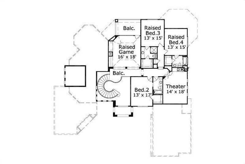 Mediterranean house plans home design ohp 30684 15775 for 1120 westchester place floor plan