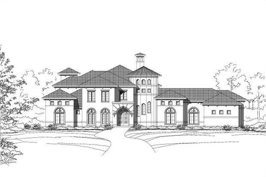 5-Bedroom, 5483 Sq Ft Luxury Home Plan - 156-1121 - Main Exterior