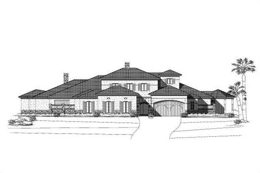 2-Bedroom, 7316 Sq Ft Mediterranean House Plan - 156-1123 - Front Exterior