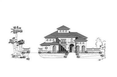 4-Bedroom, 5788 Sq Ft Mediterranean Home Plan - 156-1124 - Main Exterior