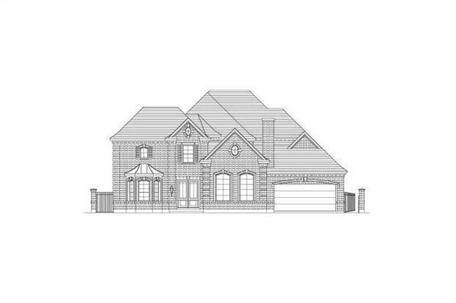 6-Bedroom, 5521 Sq Ft Luxury House Plan - 156-1126 - Front Exterior