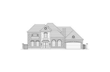 4-Bedroom, 4575 Sq Ft French House Plan - 156-1127 - Front Exterior