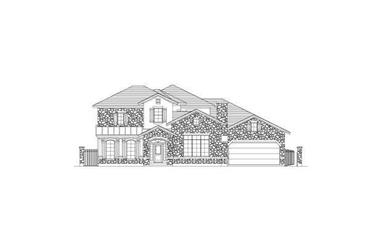 4-Bedroom, 4359 Sq Ft Tuscan House Plan - 156-1128 - Front Exterior