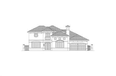 4-Bedroom, 4574 Sq Ft Mediterranean Home Plan - 156-1132 - Main Exterior
