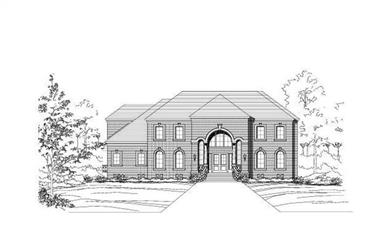 5-Bedroom, 7425 Sq Ft Luxury House Plan - 156-1134 - Front Exterior
