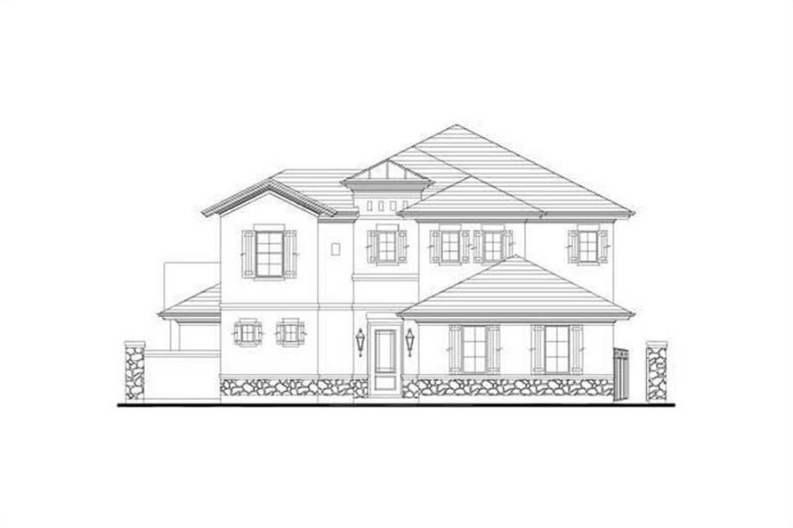 4-Bedroom, 3526 Sq Ft House Plan - 156-1137 - Front Exterior