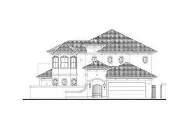 4-Bedroom, 3518 Sq Ft Mediterranean House Plan - 156-1138 - Front Exterior