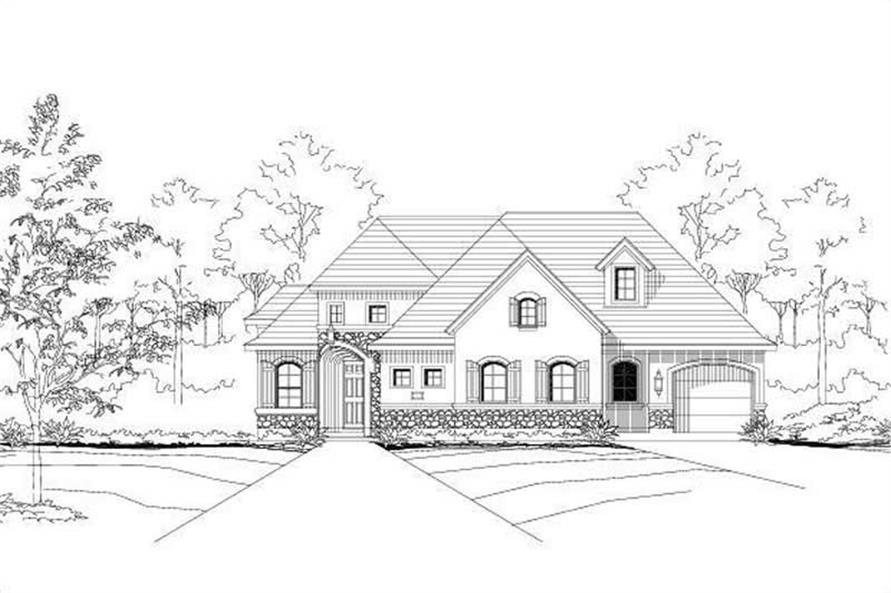 4-Bedroom, 3133 Sq Ft Country Home Plan - 156-1141 - Main Exterior