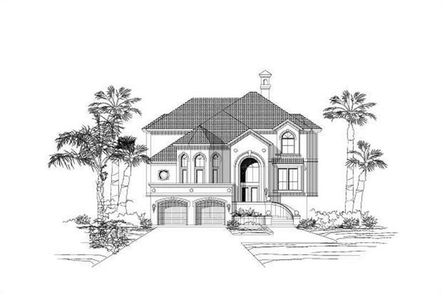 3-Bedroom, 3739 Sq Ft Coastal Home Plan - 156-1143 - Main Exterior