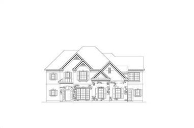 4-Bedroom, 4268 Sq Ft Country House Plan - 156-1144 - Front Exterior