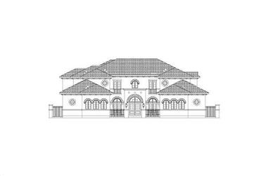 5-Bedroom, 5827 Sq Ft Luxury House Plan - 156-1146 - Front Exterior