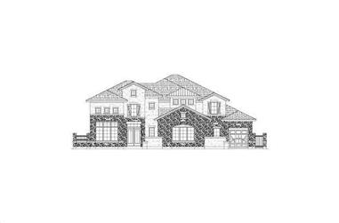 4-Bedroom, 6017 Sq Ft Tuscan House Plan - 156-1148 - Front Exterior