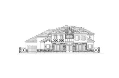 5-Bedroom, 5156 Sq Ft Luxury Home Plan - 156-1151 - Main Exterior