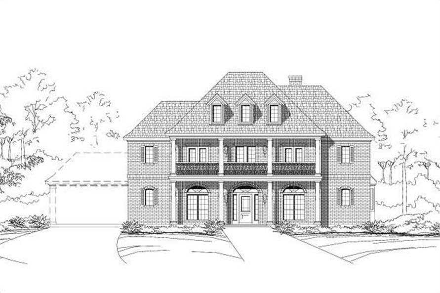 5-Bedroom, 4357 Sq Ft Colonial House Plan - 156-1155 - Front Exterior