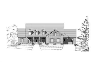 3-Bedroom, 4361 Sq Ft Luxury House Plan - 156-1157 - Front Exterior