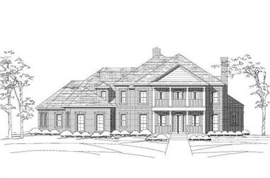 4-Bedroom, 4428 Sq Ft Colonial House Plan - 156-1158 - Front Exterior