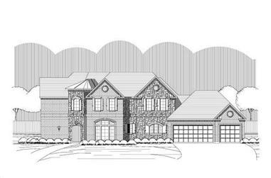 4-Bedroom, 3586 Sq Ft Craftsman House Plan - 156-1159 - Front Exterior