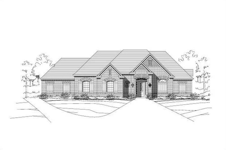 4-Bedroom, 3061 Sq Ft Ranch Home Plan - 156-1160 - Main Exterior