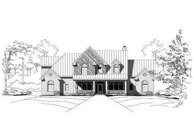 4-Bedroom, 3749 Sq Ft Country House Plan - 156-1162 - Front Exterior