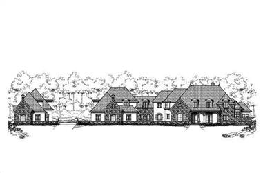 6-Bedroom, 8054 Sq Ft Country House Plan - 156-1163 - Front Exterior