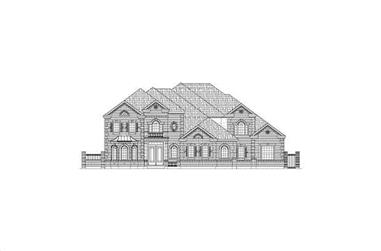 4-Bedroom, 7024 Sq Ft Luxury House Plan - 156-1166 - Front Exterior