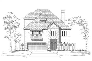 4-Bedroom, 4239 Sq Ft Mediterranean House Plan - 156-1169 - Front Exterior