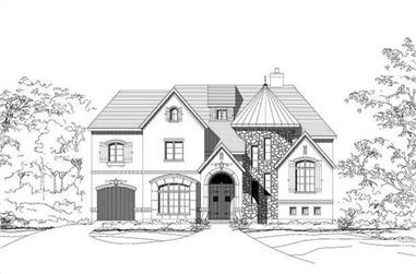 5-Bedroom, 6438 Sq Ft Spanish House Plan - 156-1171 - Front Exterior