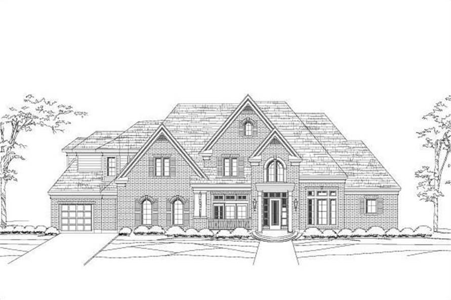 5-Bedroom, 5000 Sq Ft Luxury Home Plan - 156-1172 - Main Exterior
