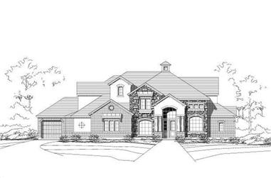 4-Bedroom, 5003 Sq Ft Craftsman House Plan - 156-1174 - Front Exterior