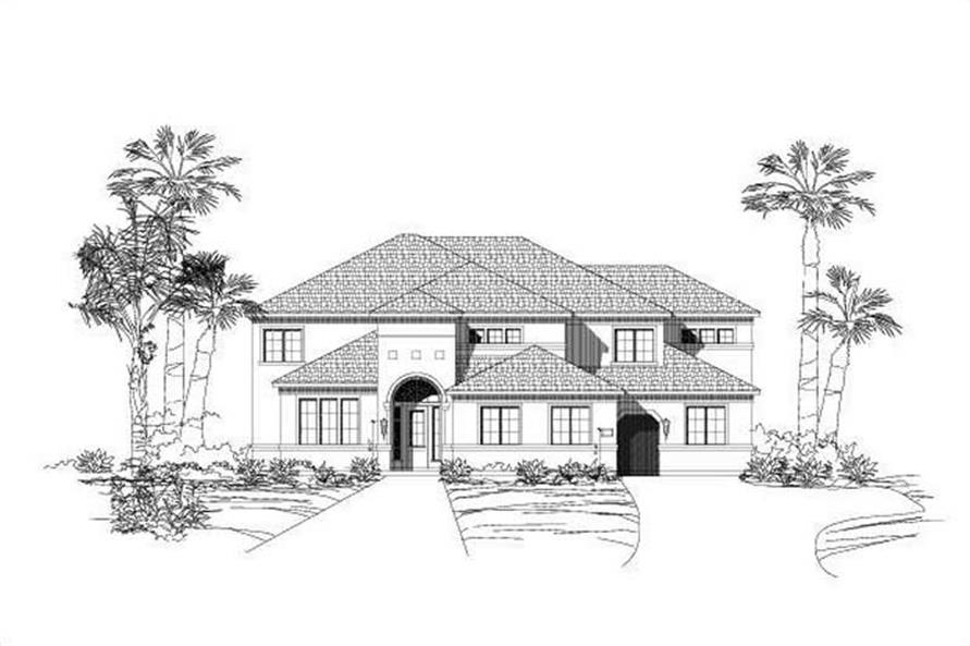 6-Bedroom, 5046 Sq Ft Luxury House Plan - 156-1175 - Front Exterior