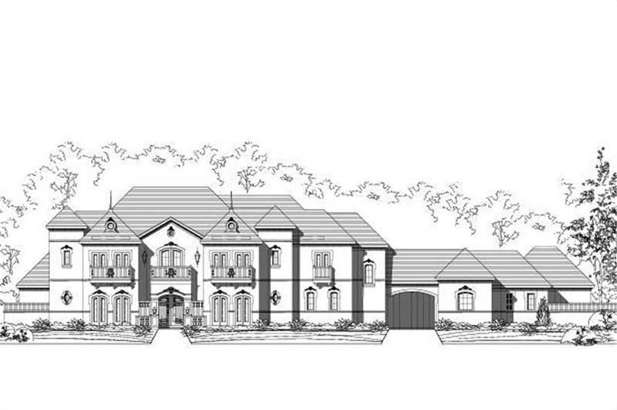 5-Bedroom, 6158 Sq Ft French Home Plan - 156-1176 - Main Exterior