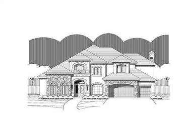 5-Bedroom, 5127 Sq Ft Luxury Home Plan - 156-1179 - Main Exterior