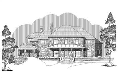 4-Bedroom, 7195 Sq Ft Luxury Home Plan - 156-1181 - Main Exterior