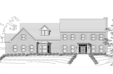 4-Bedroom, 6224 Sq Ft Luxury Home Plan - 156-1183 - Main Exterior