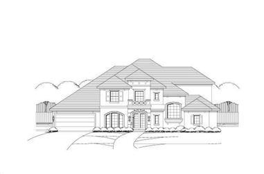 4-Bedroom, 4454 Sq Ft Mediterranean Home Plan - 156-1184 - Main Exterior