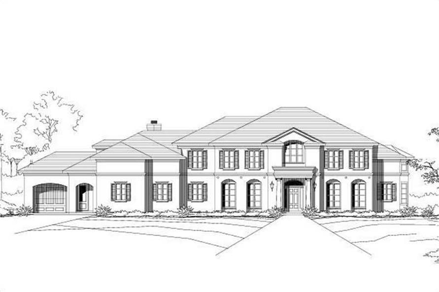 5-Bedroom, 5574 Sq Ft Luxury House Plan - 156-1185 - Front Exterior