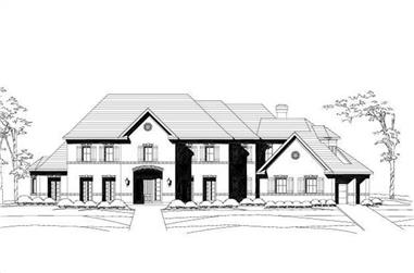 4-Bedroom, 5524 Sq Ft Luxury House Plan - 156-1186 - Front Exterior