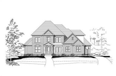 4-Bedroom, 4265 Sq Ft Luxury Home Plan - 156-1187 - Main Exterior