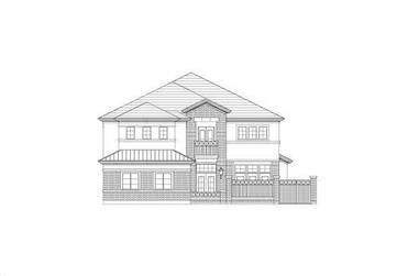 3-Bedroom, 3742 Sq Ft Luxury Home Plan - 156-1188 - Main Exterior