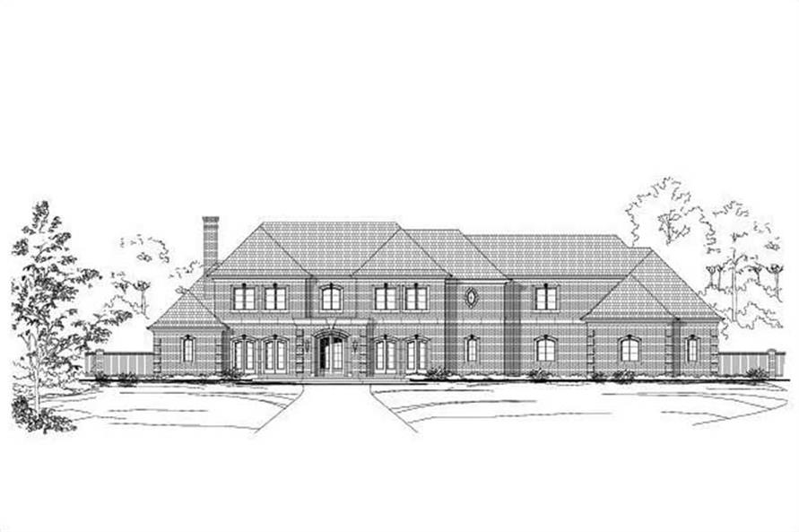 6-Bedroom, 10235 Sq Ft Luxury House Plan - 156-1189 - Front Exterior