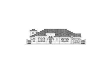 4-Bedroom, 4124 Sq Ft Mediterranean House Plan - 156-1190 - Front Exterior
