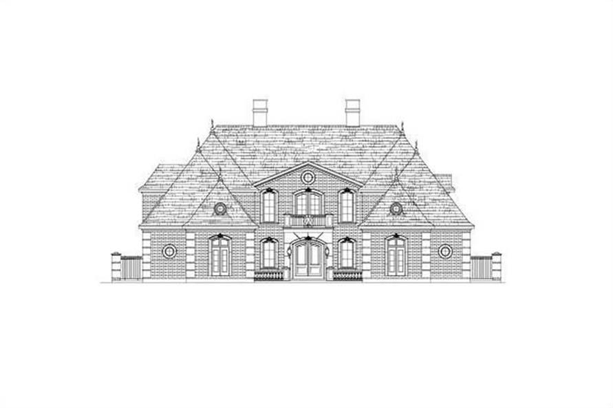 5-Bedroom, 5827 Sq Ft French House Plan - 156-1191 - Front Exterior