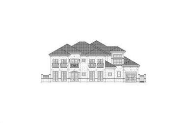 4-Bedroom, 5989 Sq Ft Luxury House Plan - 156-1192 - Front Exterior