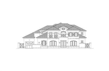 5-Bedroom, 5144 Sq Ft Luxury Home Plan - 156-1193 - Main Exterior